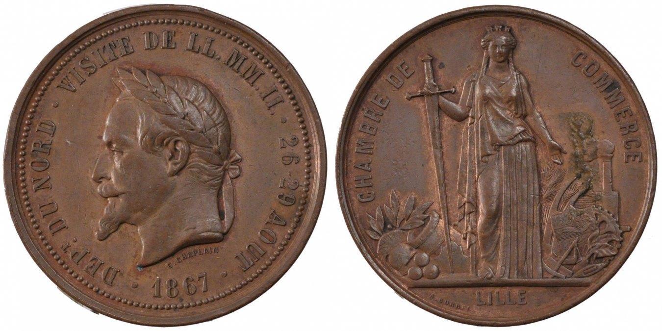 Token 1867 Frankreich AU(55-58)