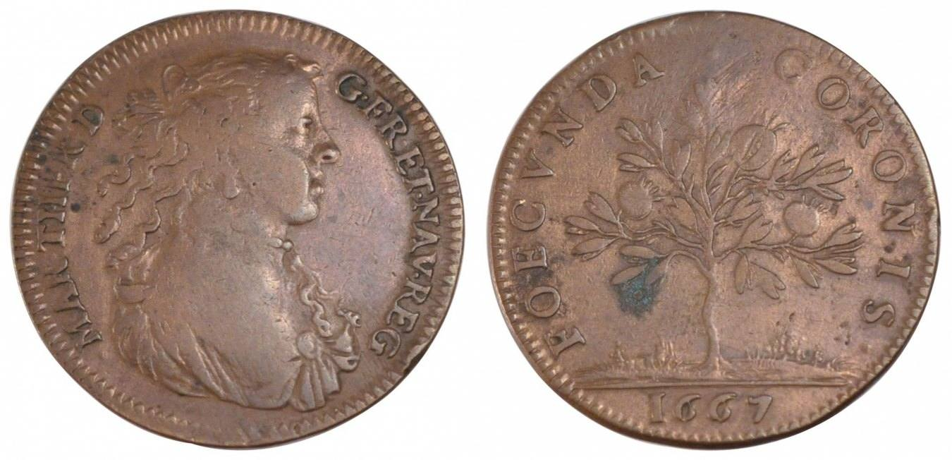 Token 1667 Frankreich France, Royal, Copper, Feuardent #13125, 5.88 S+