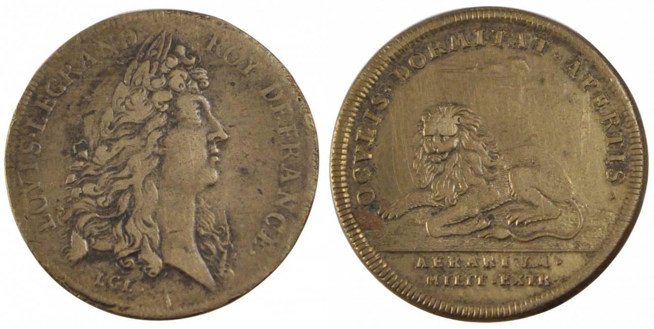 Token Frankreich France, Royal, Copper, Feuardent #944, 4.87 S+