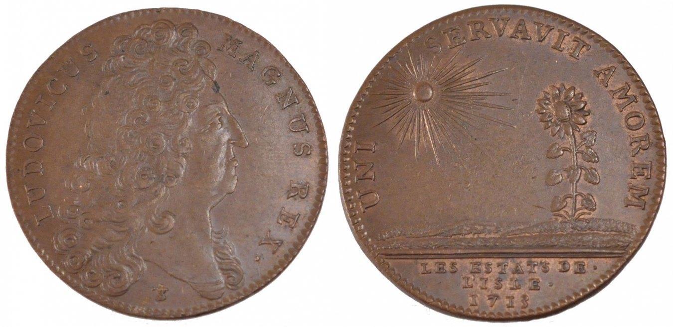 Token 1713 Frankreich France, Royal, Copper, Feuardent #7234, 8.64 VZ