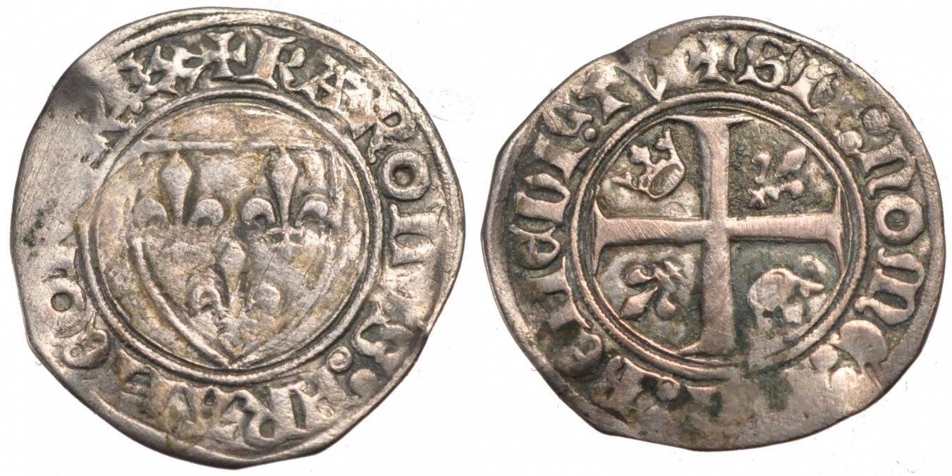 Blanc Guénar Saint Quentin Frankreich 1380-1422 Charles VI le Fol VF(30-35)