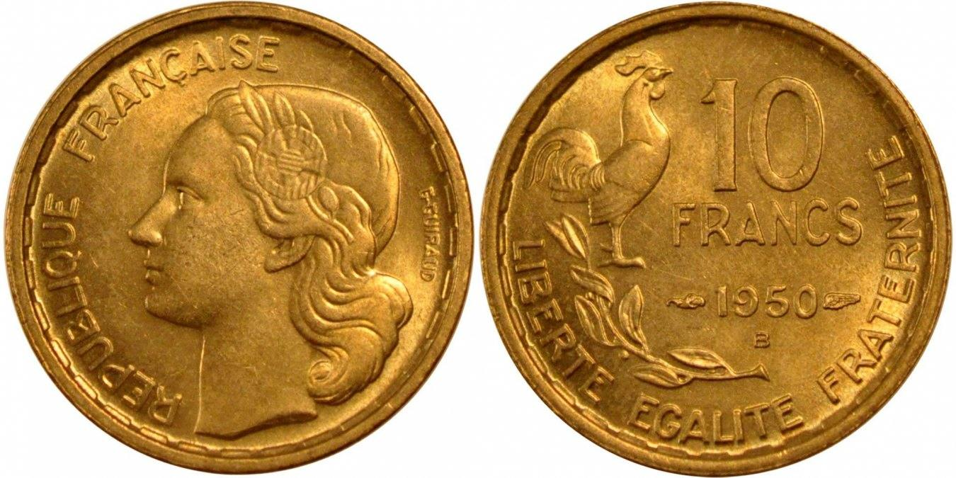 10 Francs 1950 B Frankreich Guiraud MS(60-62)