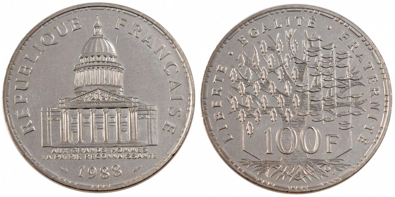 100 Francs 1988 Paris Frankreich Panthéon AU(55-58)