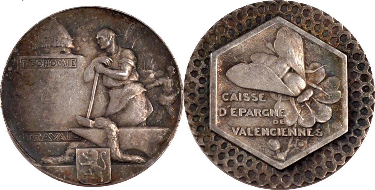 Token Frankreich France, Savings Bank, Silver, 12.08 SS+