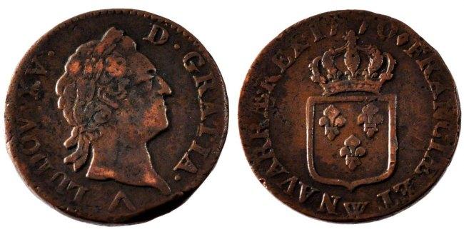 Sol 1770 W Frankreich Sol à la vieille tête Louis XV 1715-1774 Louis XV le Bien-Aimé EF(40-45)