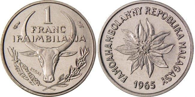 Franc 1965 (a) Madagascar MS(65-70)
