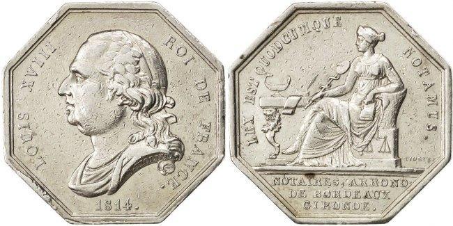 Token 1814 Frankreich AU(50-53)