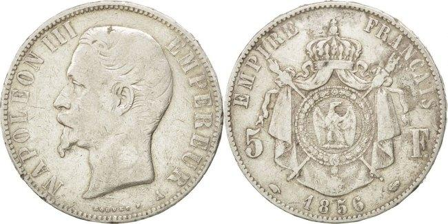5 Francs 1856 A Frankreich Napoléon III Napoleon III VF(30-35)
