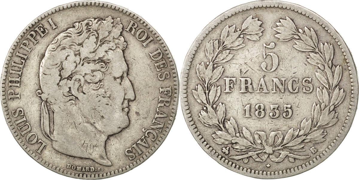 5 Francs 1935 B Frankreich Louis-Philippe VF(20-25)