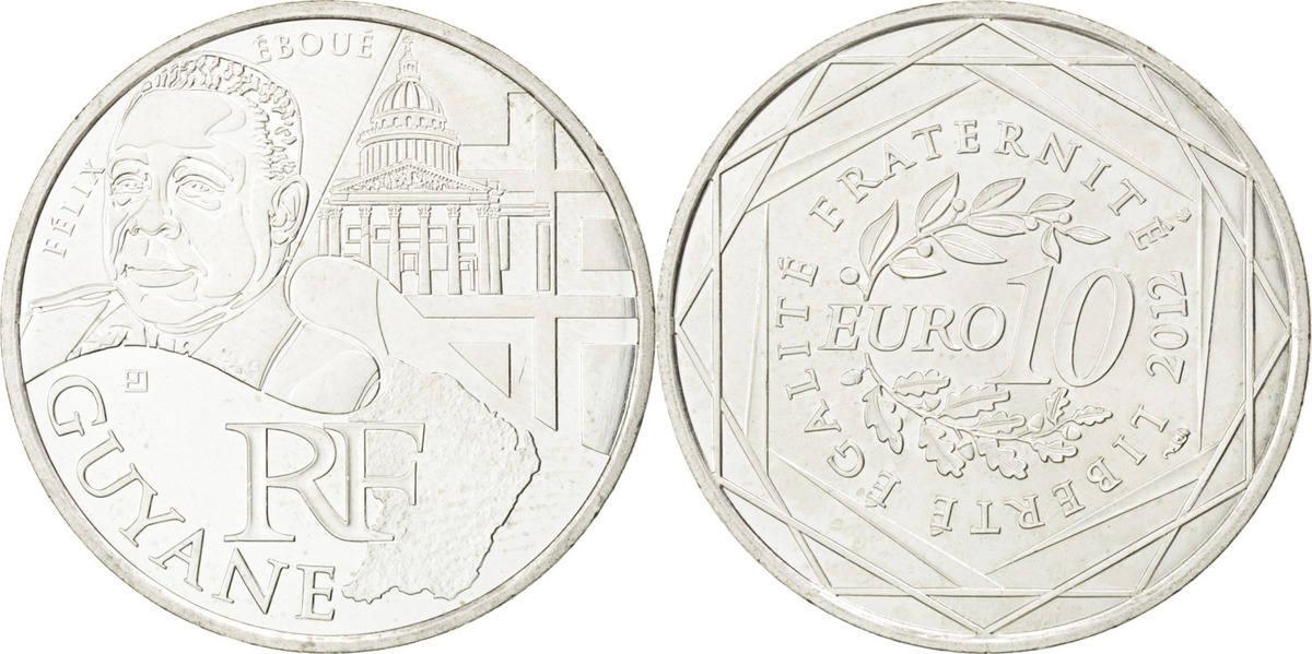 10 Euro 2012 (a) Frankreich French Guiana AU(55-58)