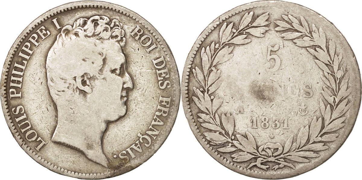 5 Francs 1831 A Frankreich Louis-Philippe F(12-15)