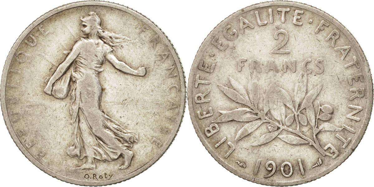 2 Francs 1901 Frankreich Semeuse VF(30-35)