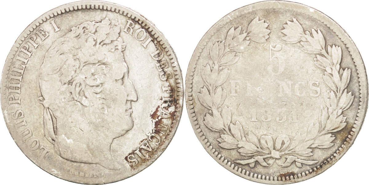 5 Francs 1831 D Frankreich Louis-Philippe F(12-15)