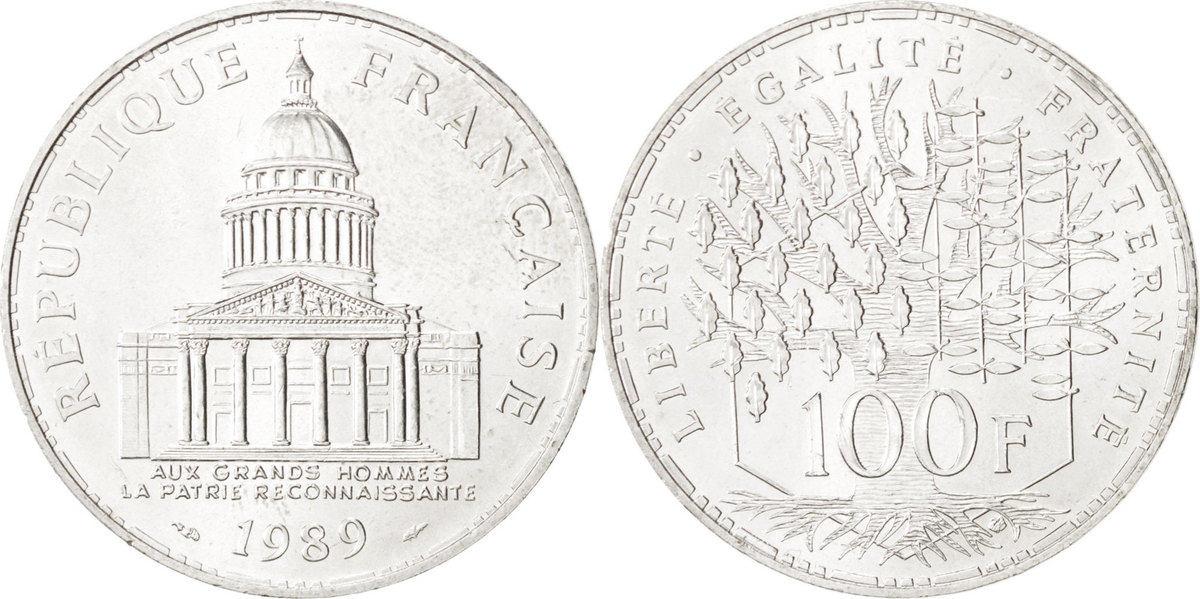 100 Francs 1989 Paris Frankreich Panthéon MS(60-62)
