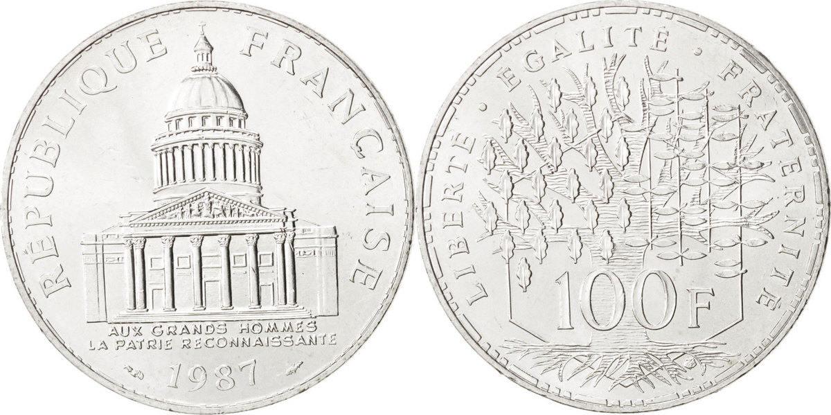 100 Francs 1987 Paris Frankreich Panthéon MS(60-62)