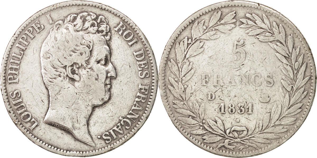5 Francs 1831 D Frankreich Louis-Philippe VF(30-35)