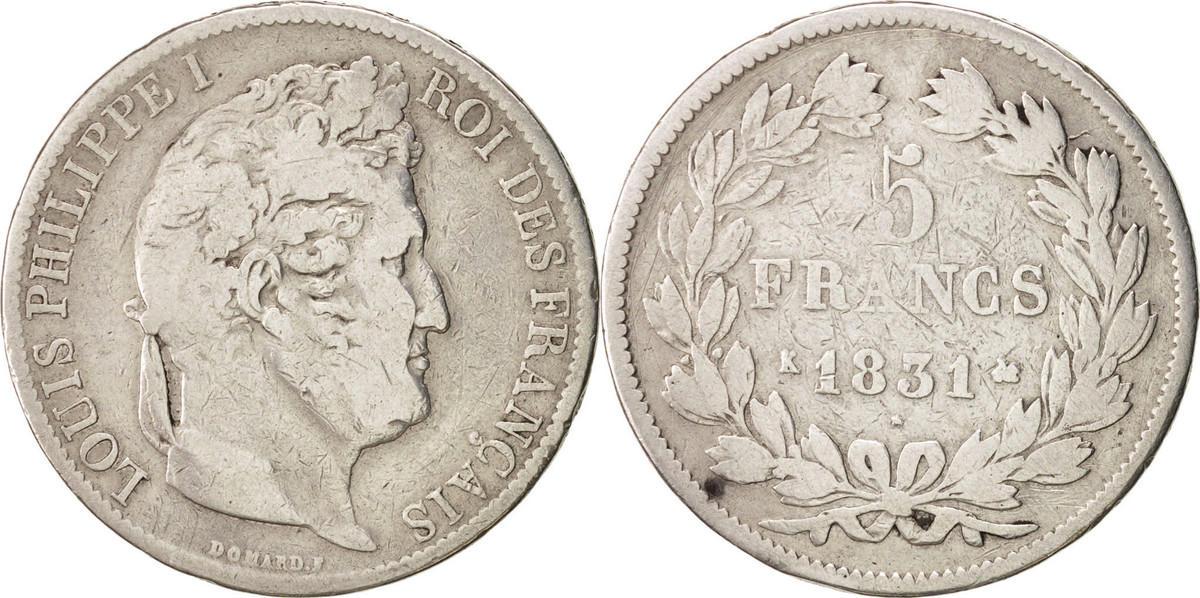 5 Francs 1831 K Frankreich Louis-Philippe VF(20-25)