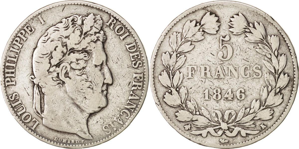 5 Francs 1846 K Frankreich Louis-Philippe VF(20-25)