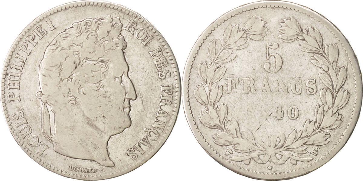 5 Francs 1840 W Frankreich Louis-Philippe VF(20-25)