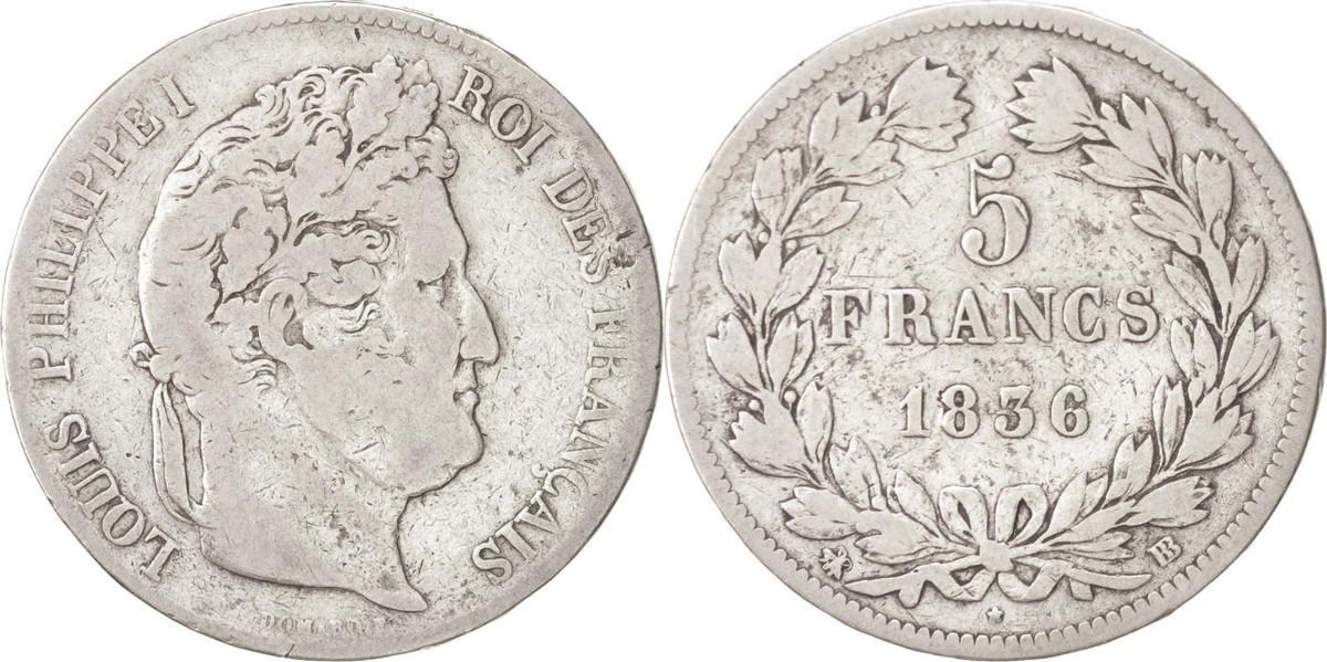 5 Francs 1936 BB Frankreich Louis-Philippe VF(20-25)