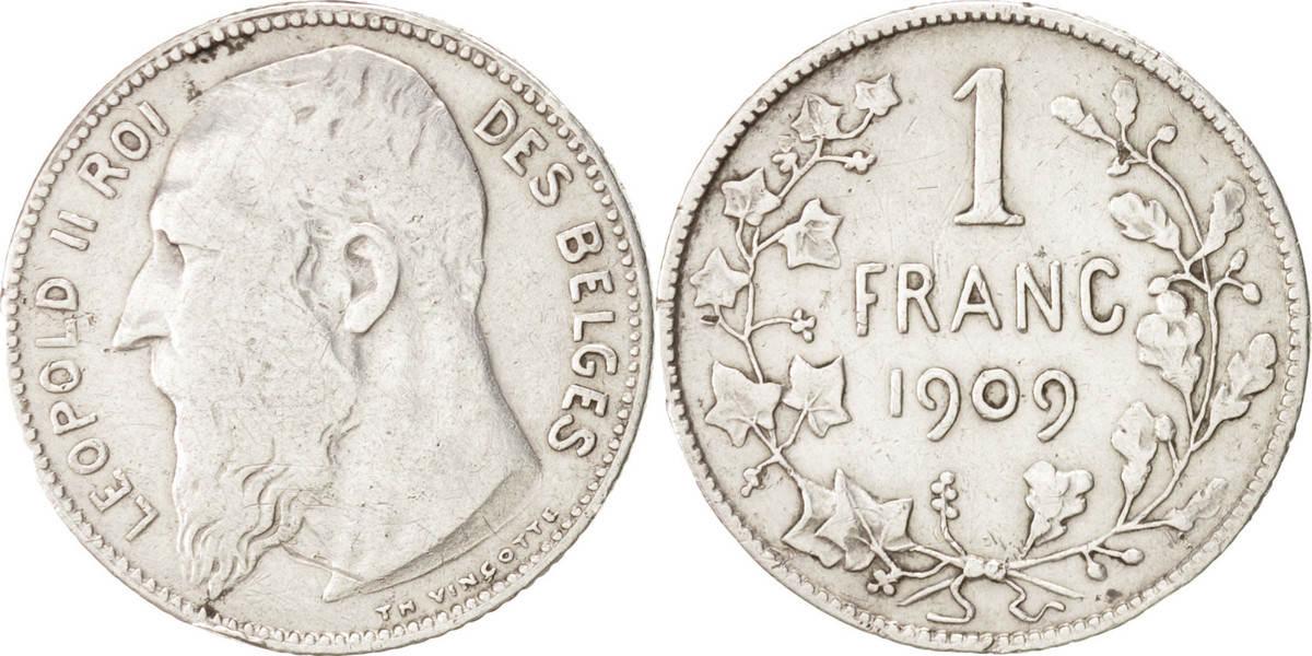 Franc 1909 Belgien VF(30-35)