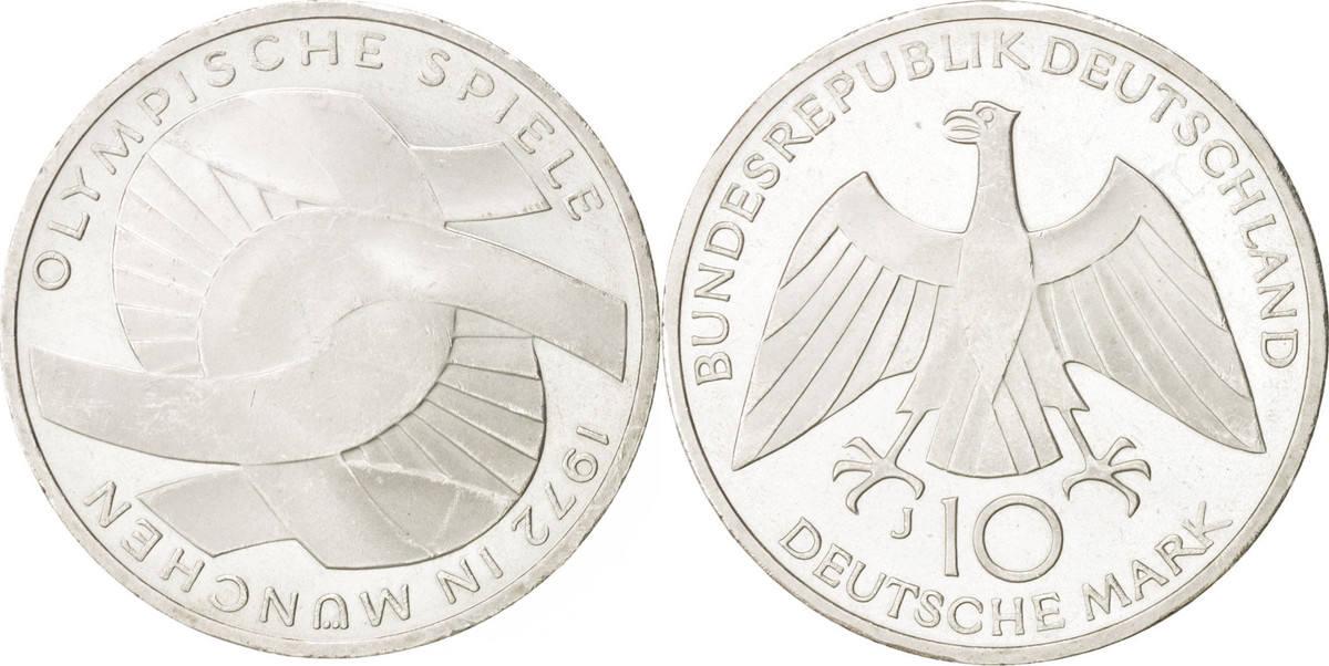 10 Mark 1972 J Bundesrepublik Deutschland MS(60-62)