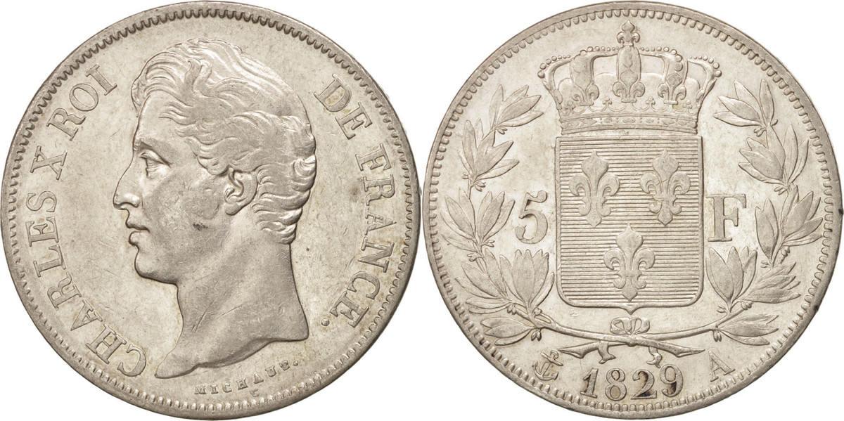 5 Francs 1829 A Frankreich Charles X EF(40-45)