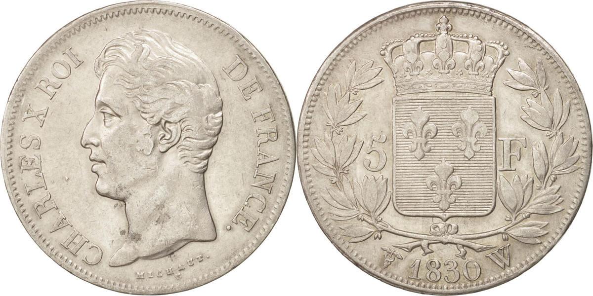 5 Francs 1830 W Frankreich Charles X EF(40-45)