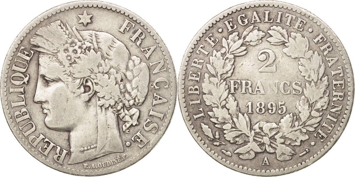 2 Francs 1895 A Frankreich Cérès EF(40-45)