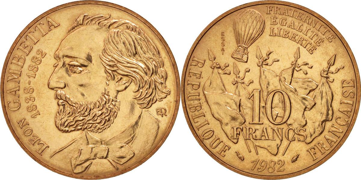 10 Francs 1982 Frankreich MS(60-62)