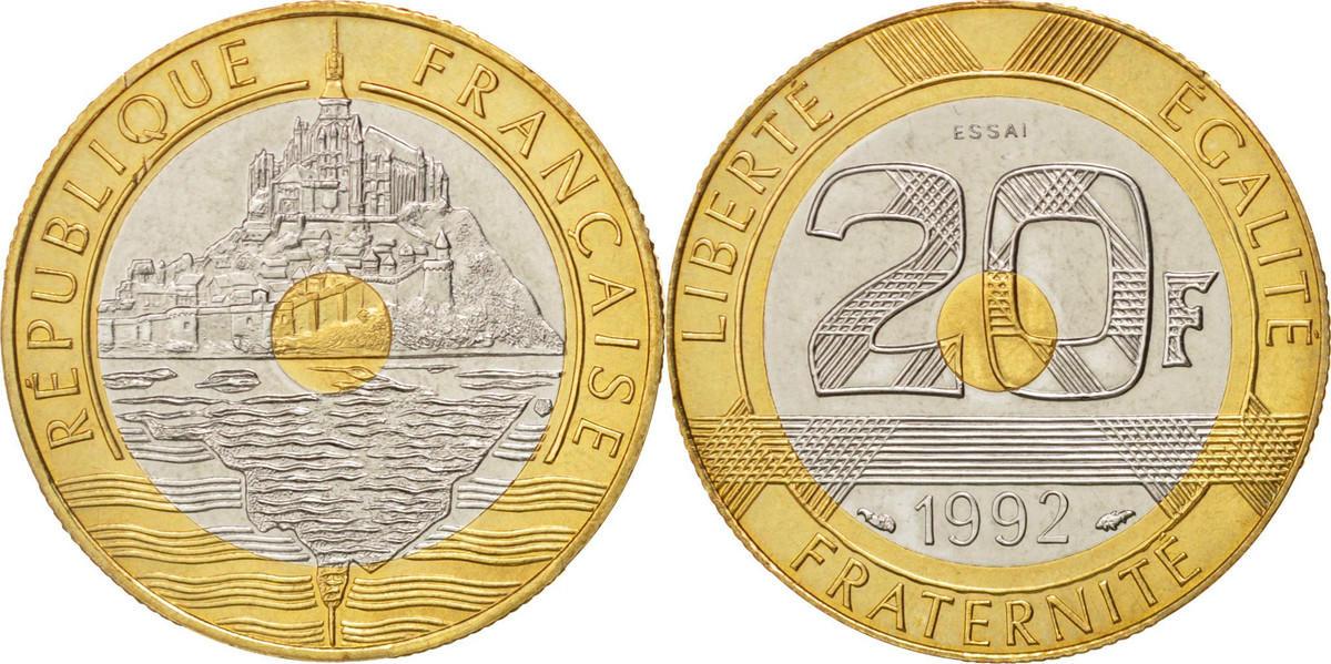 20 Francs 1992 Frankreich MS(60-62)