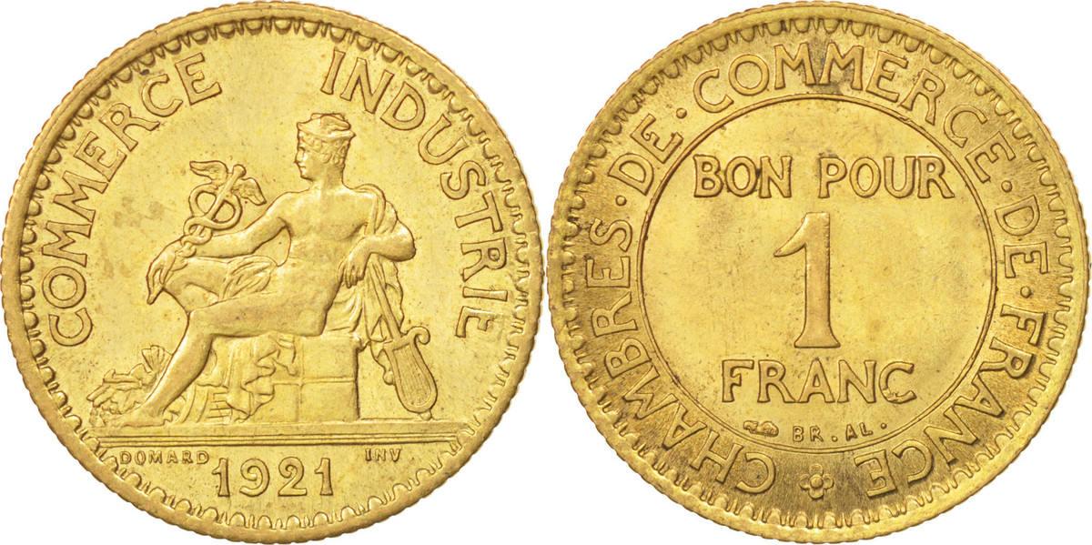 Franc 1921 Paris Frankreich Chambre de commerce MS(60-62)