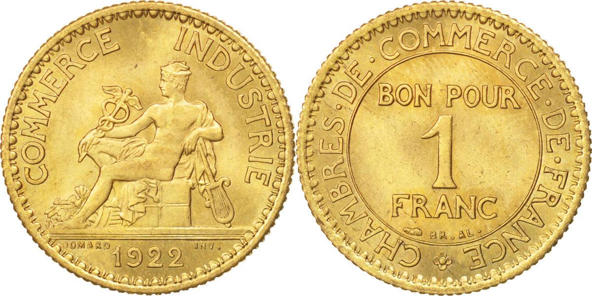 Franc 1922 Paris Frankreich Chambre de commerce MS(60-62)