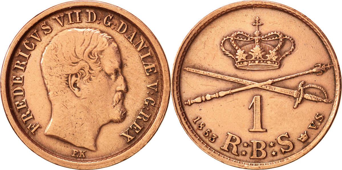 Rigsbankskilling 1853 (C) Dänemark Frederik VII AU(50-53)