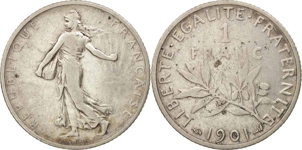 Franc 1901 Paris Frankreich Semeuse VF(30-35)