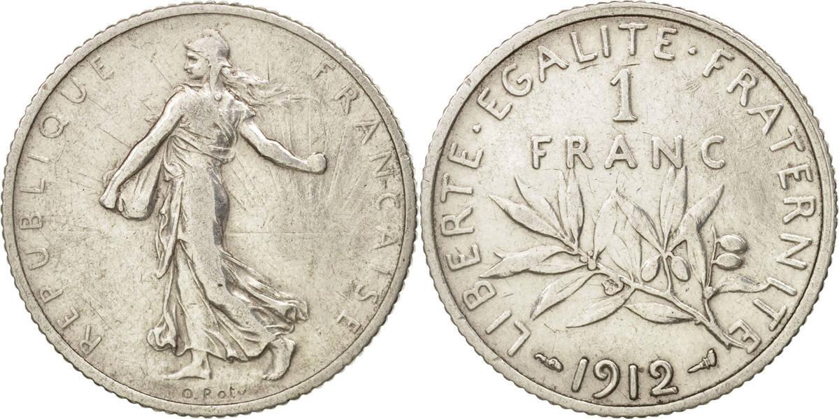 Franc 1912 Paris Frankreich Semeuse AU(55-58)