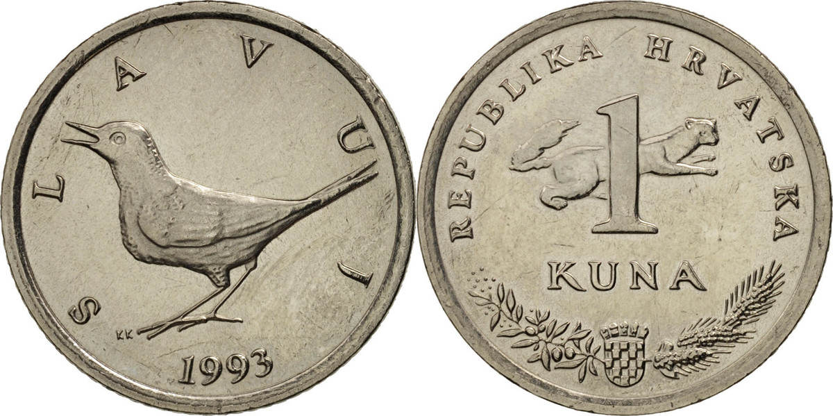 Kuna 1993 Kroatien VZ, Copper-Nickel-Zinc, KM:9.1 VZ