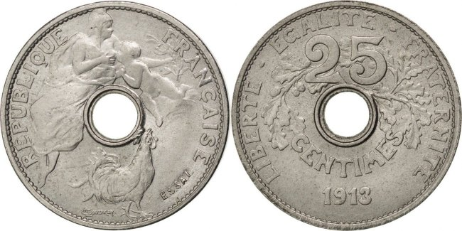 25 Centimes 1913 Frankreich MS(60-62)