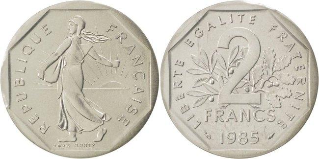 2 Francs 1985 Frankreich MS(65-70)