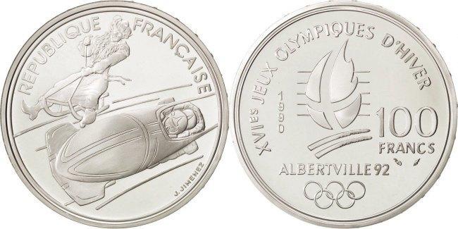 100 Francs 1990 Frankreich MS(65-70)