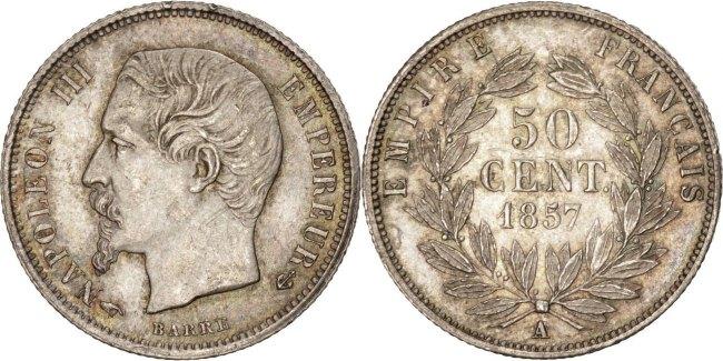 50 Centimes 1857 A Frankreich Napoléon III Napoleon III MS(64)