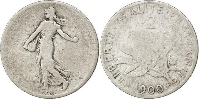 2 Francs 1900 Frankreich Semeuse F(12-15)