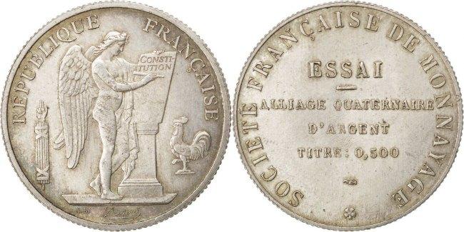 10 Francs Frankreich AU(50-53)