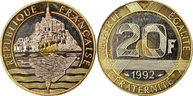 20 Francs 1992 Frankreich MS(63)