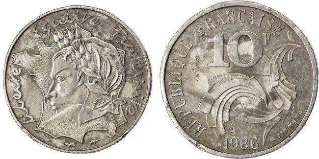 10 Francs 1986 Frankreich EF(40-45)