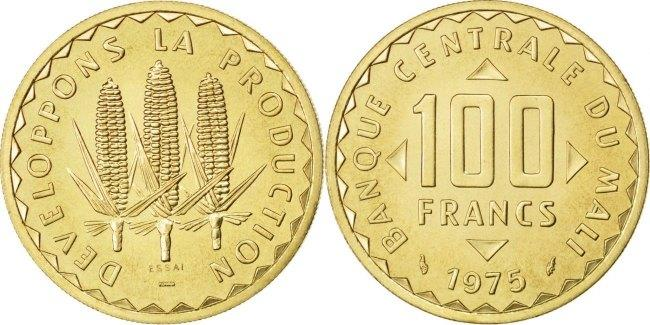 100 Francs 1975 Mali MS(60-62)