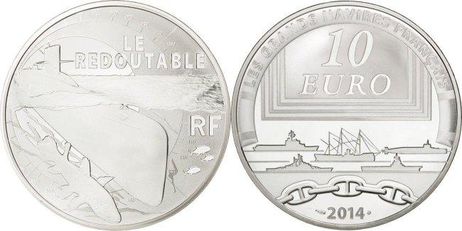 10 Euro 2014 Paris Frankreich France, Silver, 22.20 STGL