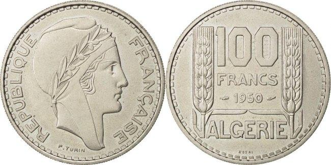 100 Francs 1950 Paris Algeria MS(60-62)