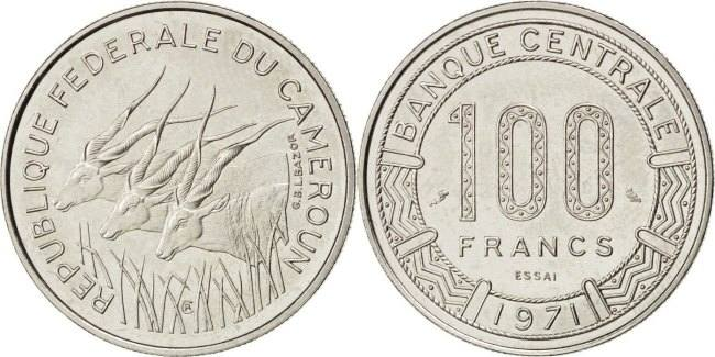 100 Francs 1971 (a) Kamerun MS(63)