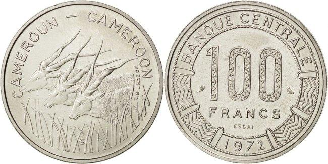 100 Francs 1972 Paris Kamerun MS(63)